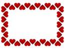 marco de corazones rojos