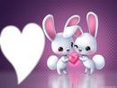 Petit lapins amoureux