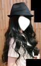 Long hair & hat