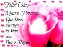 Rosas con texto del día de la Madre