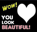 you look beautiful heart frame 1
