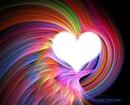 coeur arc en ciel