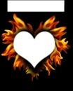 coeur avec flames