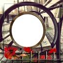 banc avec anneau pour mettre la photo