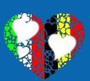 Belgique Italie Coeur