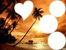 ile avec coucher de soleil