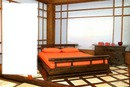 Red Bedroom asian love 1 rectangle