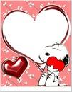 snoopy st-valentin