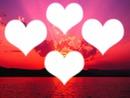 cœur au couché du soleil
