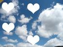 coração nas nuvens