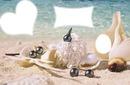 plage orné de perle et coquillage