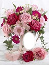 Cc jarrón de rosas