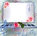 Musique-piano-roses