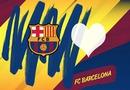Montaje logo FC Barcelona