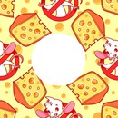 cadre interdit souris avec fromage 1 photo