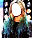demi green-blue hair