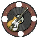 guitare horloge