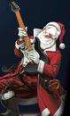 père noel et sa guitare