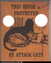 attack cats warning sign-hdh