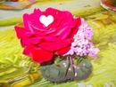 coeur dans une rose