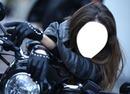 belle femme motarde