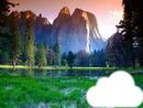 coucher de soleil et montagnes