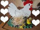Poule de Pâques -5 coeurs
