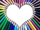 Coeur avk créyon de couleur