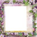 cadre fleurie violet