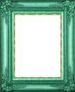 cadre vert et dorure