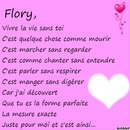 Vivre la vie sans toi Flory