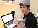 Austin Mahone sur ordinateur