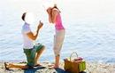 demande en mariage au bord de mer