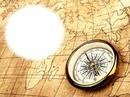Boussole-carte géographique