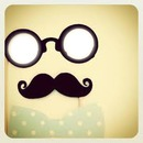 Visage lunettes