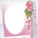 fleurs rose et dentelle
