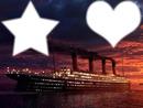 Bateau Titanic étoile + coeur