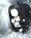 Ange blanc-noir