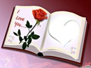 livre coeur i love you