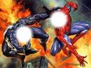 luta do homem aranha