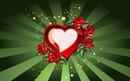coeur avec des fleurs