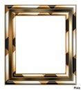 cadre noir et or