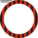 Quadro-Vermelho e preto.