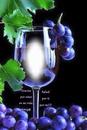 Cc copa de vino con uvas