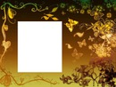 Cadre - papillons dorés