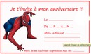 invitation spiderman
