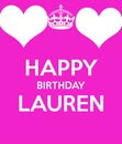 happy birthday lauren