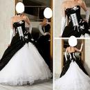 mariage noie et blanc