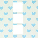 cadre coeurs bleus x 3