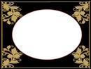 cadre oval doré